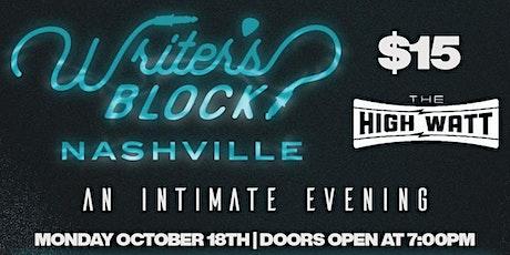 Writer's Block: Nashville tickets