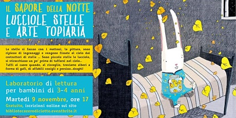 Il sapore della notte > Lucciole, stelle e arte topiaria (3-4 anni) biglietti