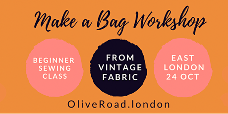Make a Tote Bag Beginners Sewing Workshop tickets