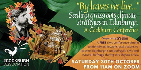 """""""By Leaves we live"""" Seeding grassroots climate strategies in Edinburgh tickets"""