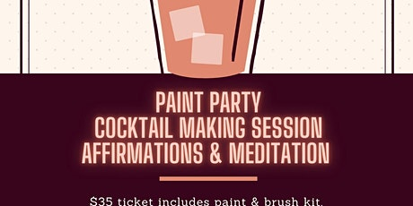 Ladies Night Paint & Meditate Party (Virtual) tickets