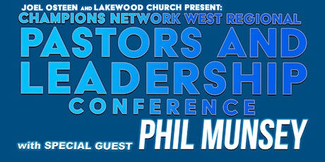 Champions Network West Regional Pastors Conference | Pastors-Only tickets