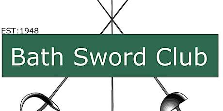 BATH SWORD CLUB Monday Juniors 25/10/2021 tickets