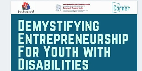 Demystifying Entrepreneurship For Youth with Disabilities tickets