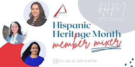 ALPFA Boston Hispanic Heritage Month Member Mixer tickets
