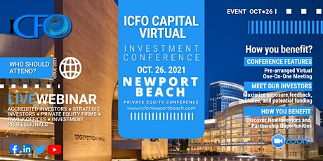 Live Web Event: The iCFO Virtual Investor Conference - Newport Beach tickets