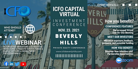 Live Web Event: The iCFO Virtual Investor Conference - Beverly Hills tickets