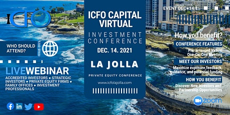 Live Web Event: The iCFO Virtual Investor Conference - La Jolla tickets