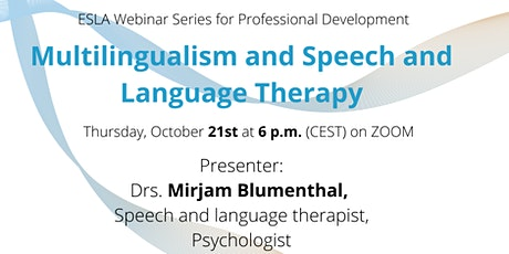 Multilingualism and Speech and Language Therapy tickets