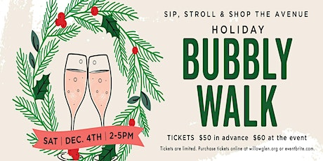 Downtown Willow Glen Holiday Bubbly Walk 2021 tickets