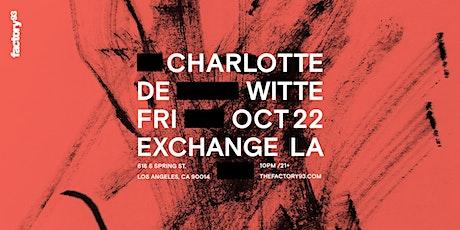 Charlotte de Witte tickets