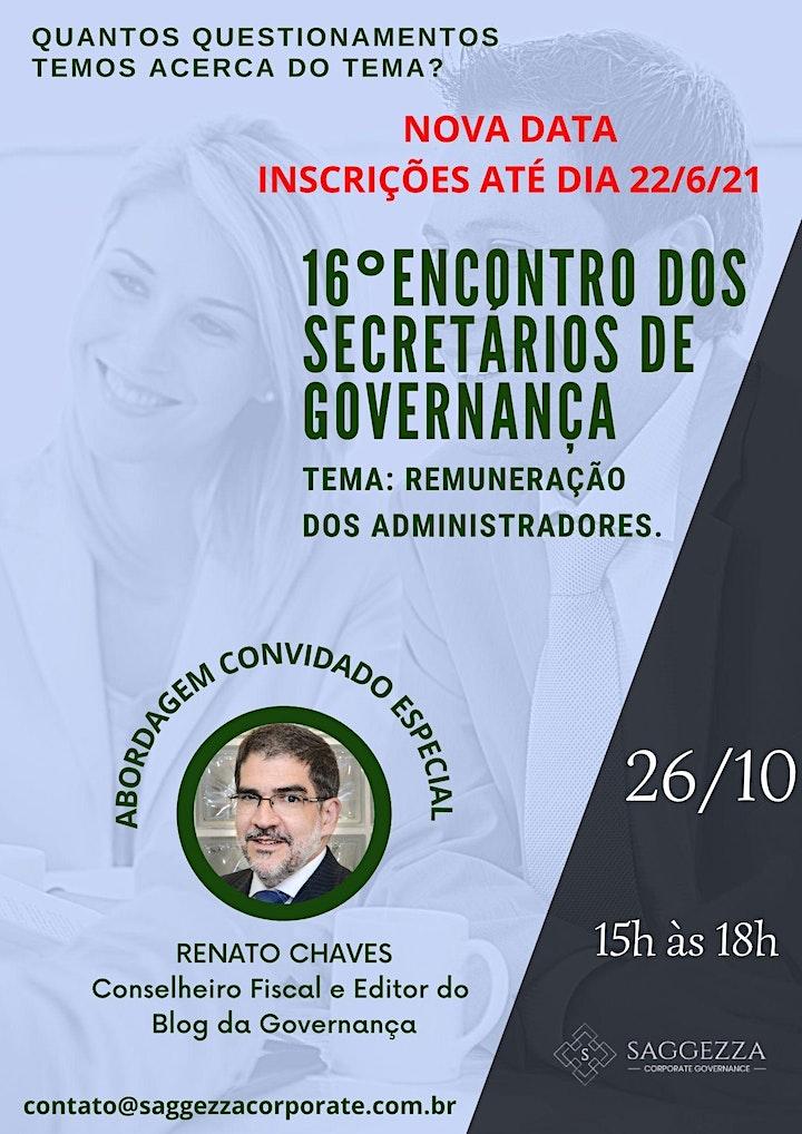 Imagem do evento 16° ENCONTRO DOS SECRETÁRIOS DE GOVERNANÇA