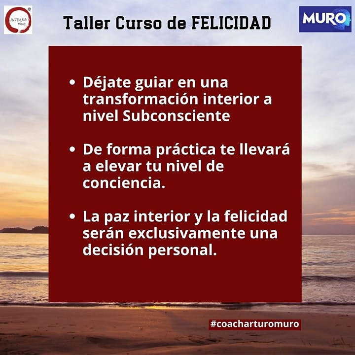 Imagen de TALLER CURSO DE FELICIDAD