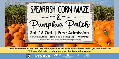 EAFB - Spearfish Corn Maze and Pumpkin Patch tickets