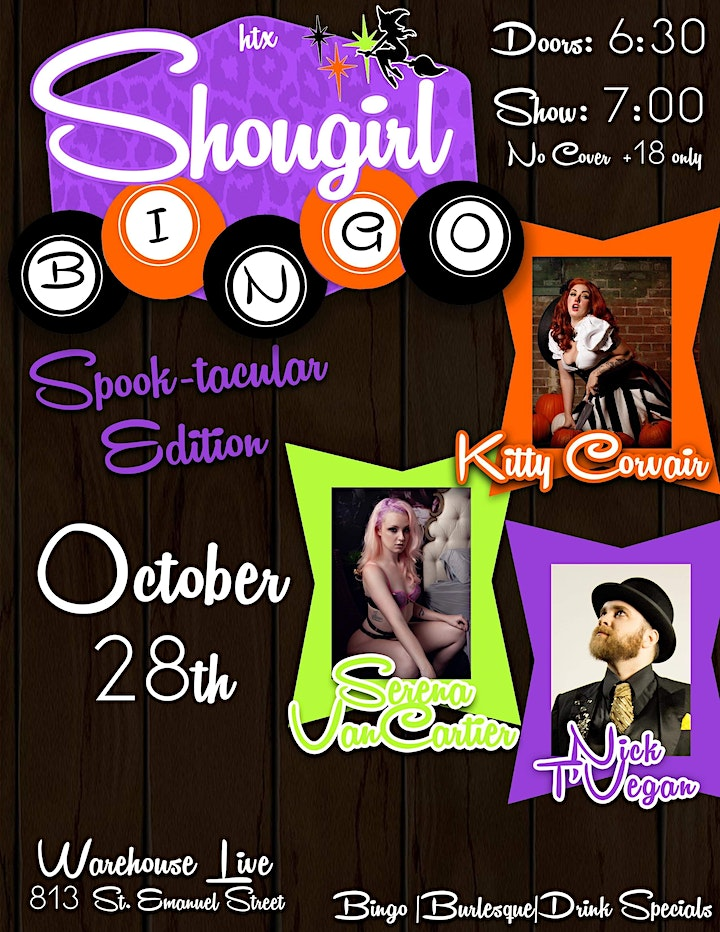 Showgirl Bingo  Hosted by Kitty Corvair image