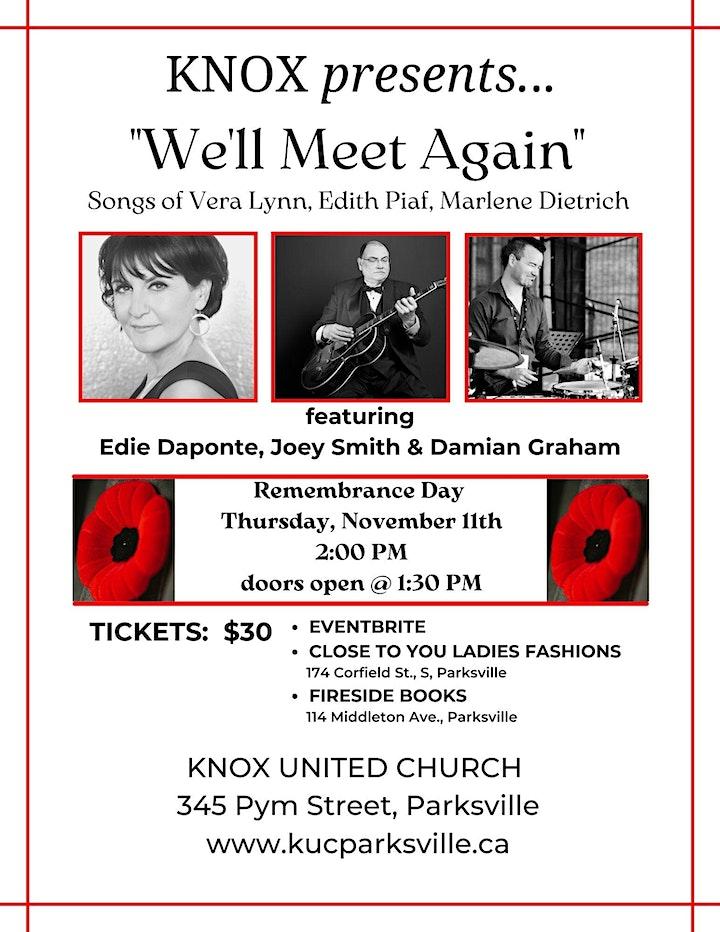 Knox Presents...Edie Daponte, Joey Smith & Damian Graham - We'll Meet Again image