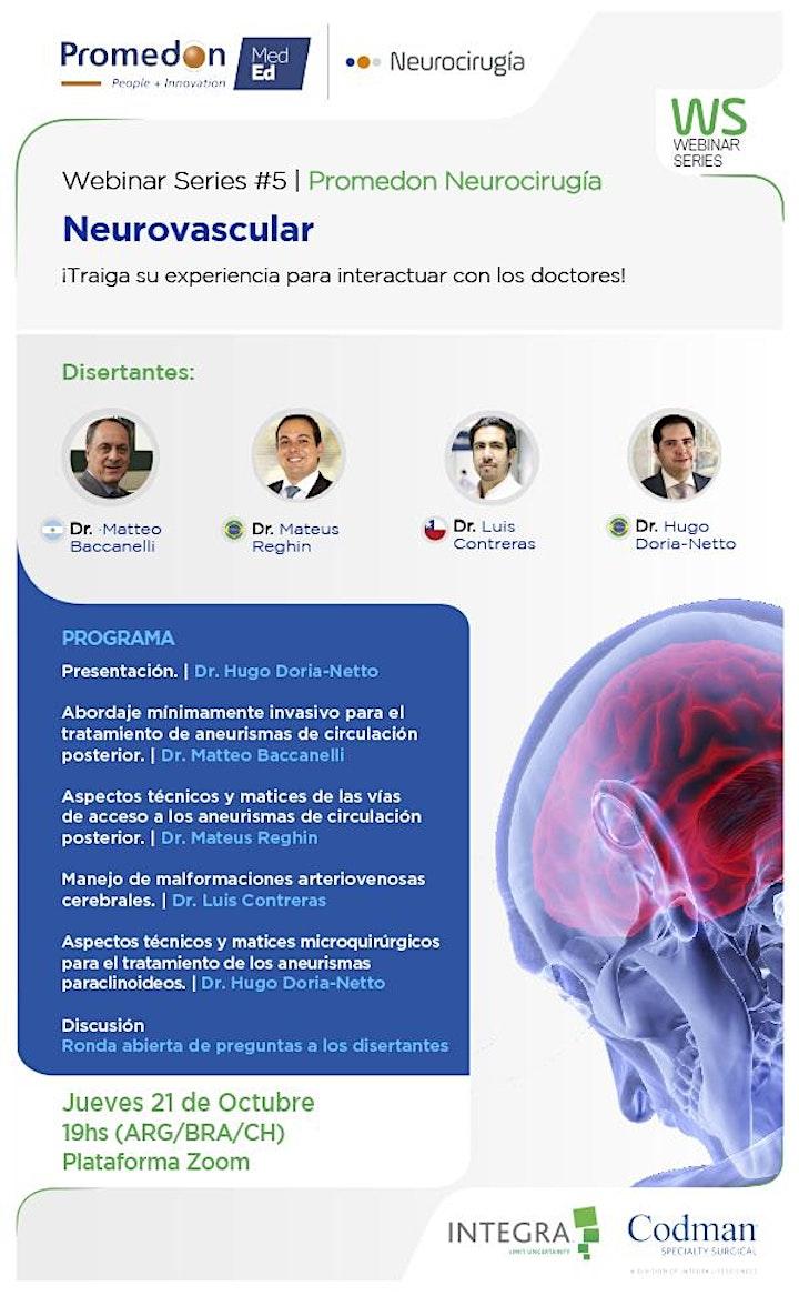 Imagen de Promedon Neurocirugía Webinar Series #5: Neurovascular