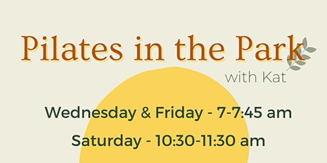 Wednesday Morning Pilates in the Park tickets