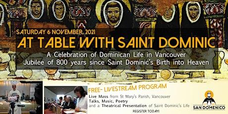 Celebration of the Jubilee of St. Dominic 1221-2021 ingressos