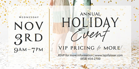 La Jolla Laser Annual Holiday Event tickets