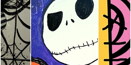 Nightmare Before Christmas themed Paint on Canvas for All Ages! tickets