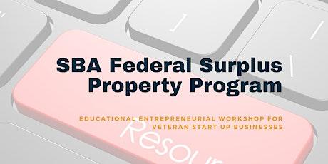 SBA Federal Surplus Property Program tickets
