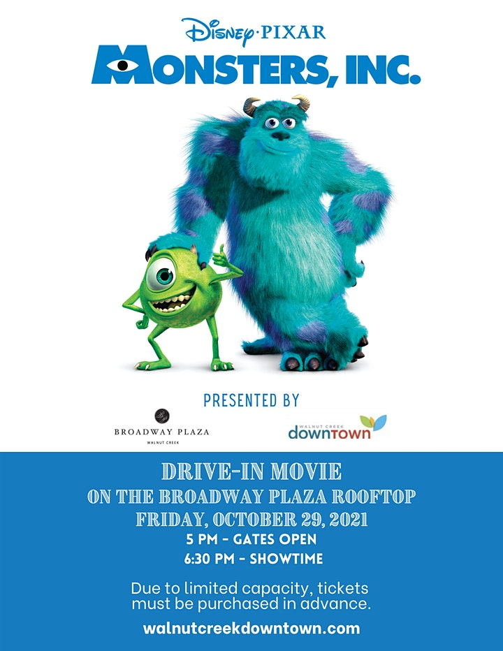 Halloween Drive-in Movie on the Rooftop - Monsters, Inc. image