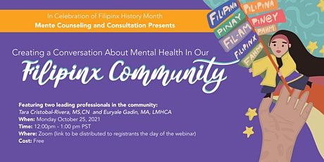 Creating a Conversation about Mental Health in our Filipinx Community tickets