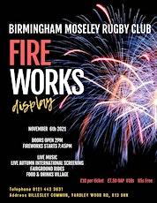 Birmingham Moseley Rugby Club Fireworks Display tickets