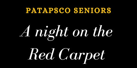 A Night on the Red Carpet.  Senior dance 2021 tickets