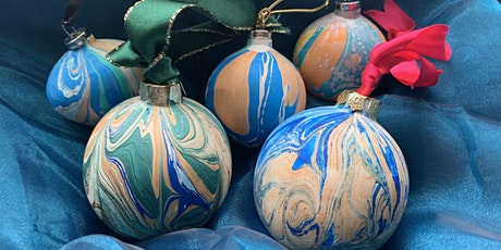 Christmas Bauble Marbling Workshop tickets
