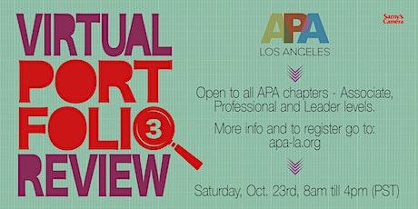 APA LA - Portfolio Review - October 23rd biglietti