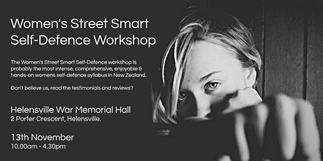 Women's Street Smart Self-Defence Workshop - Helensville November 2021 tickets
