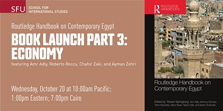 Routledge Handbook on Contemporary Egypt Book Launch: Economy tickets