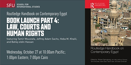 Routledge Handbook on Contemporary Egypt: Law, courts, and human rights tickets