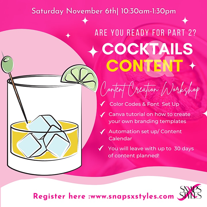 Cocktails and Content image