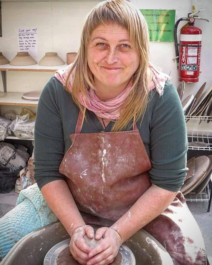 Pottery course Term 4 - Beginners wheel class with Kim Possible image