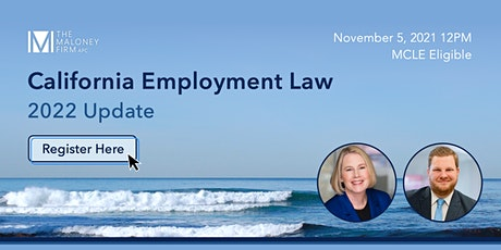 2022 California Employment Law Update tickets