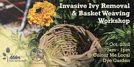 Invasive Ivy Removal & Basket Weaving Workshop tickets