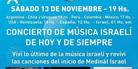 CONCIERTO DE MUSICA ISRAELI DE HOY Y DE SIEMPRE entradas