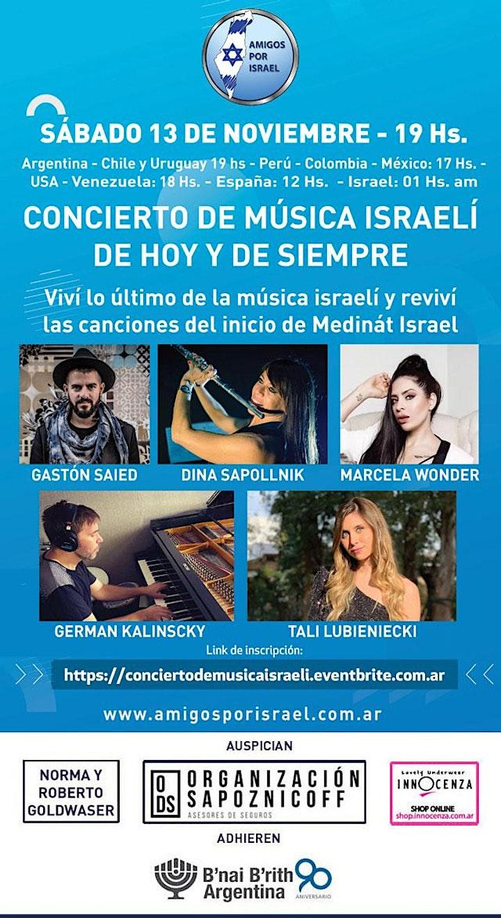 Imagen de CONCIERTO DE MUSICA ISRAELI DE HOY Y DE SIEMPRE