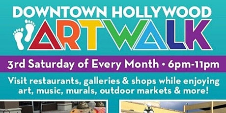 Guided Tour Through The Downtown Hollywood Florida ArtWalk (IN PERSON)! tickets