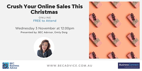 Crush Your Online Sales This Christmas tickets