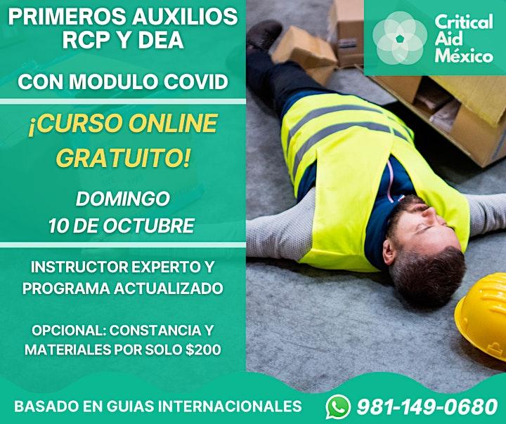 Imagen de PRIMEROS AUXILIOS, RCP Y DEA - CURSO GRATUITO
