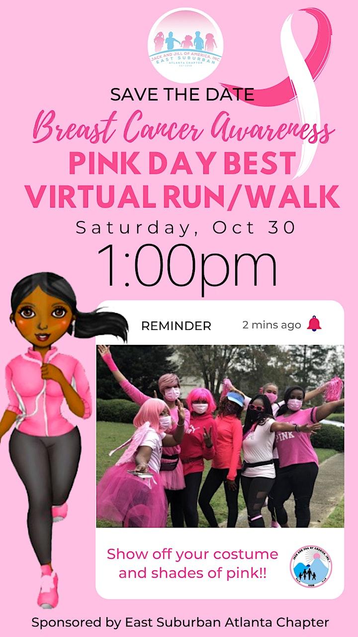 Pink Day Best Virtual Breast Cancer Awareness Run/Walk image