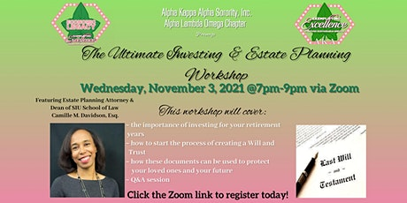 The Ultimate Investing and Estate Planning Workshop tickets
