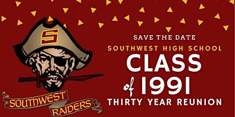 Southwest High School (San Diego) Class of 1991 30-Year High School Reunion tickets