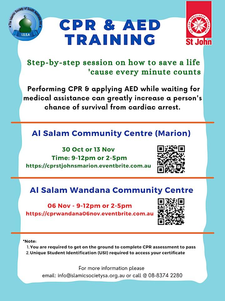 CPR and AED Training by St John Ambulance (Wandana) image