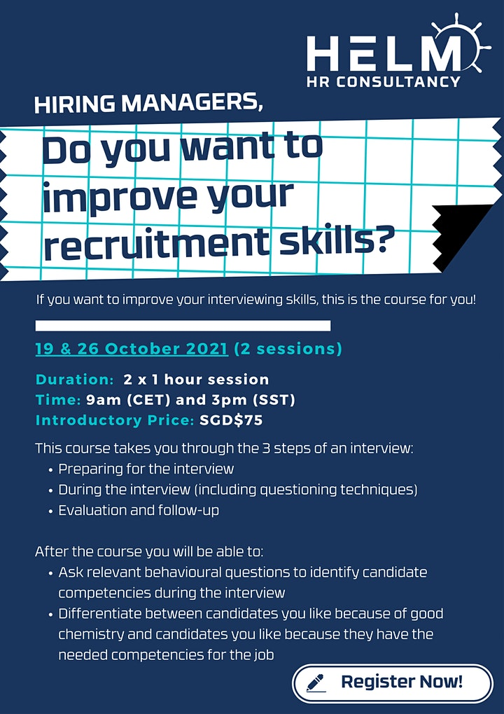 Do You Want to Improve your Recruitment Skills? - For Hiring Managers Only image