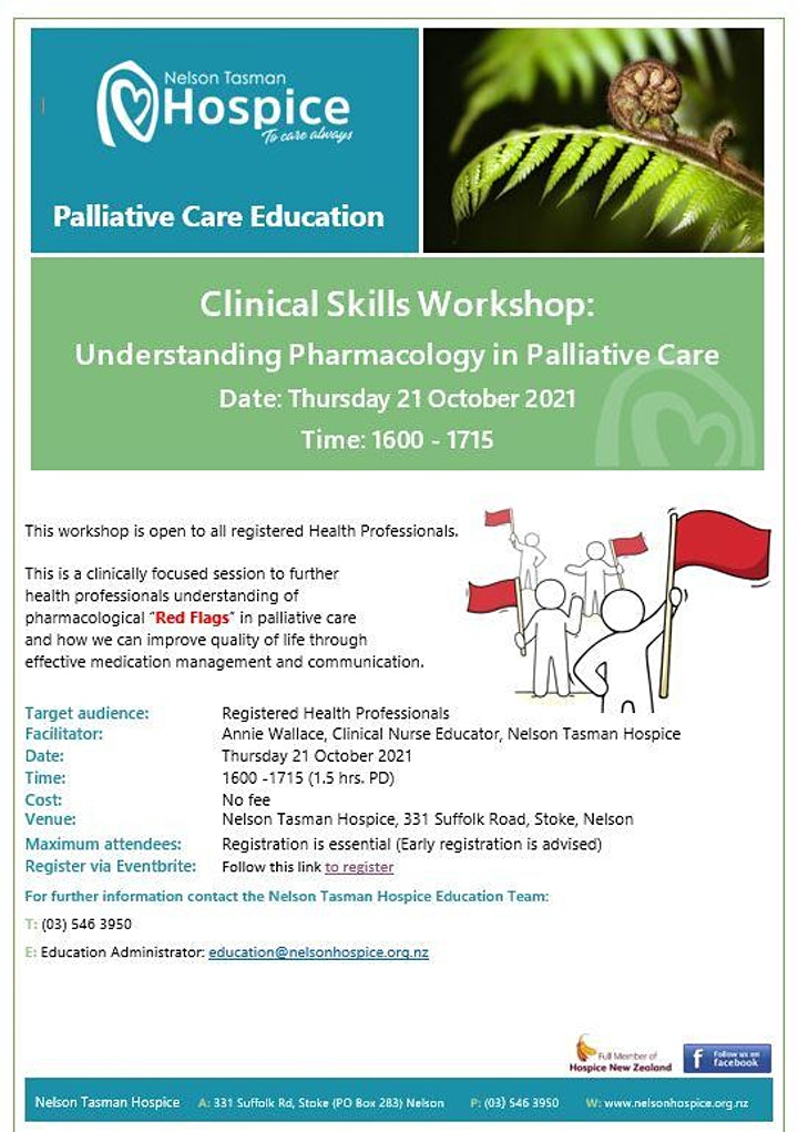 Clinical  Skills Workshop: Understanding pharmacology in Palliative Care image